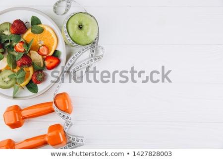 Diety tłuszczu kobieta zmartwiony masy dziewczyna Zdjęcia stock © hsfelix