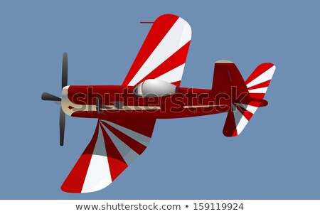 Small screw aircraft with banner in sky Stock photo © studioworkstock