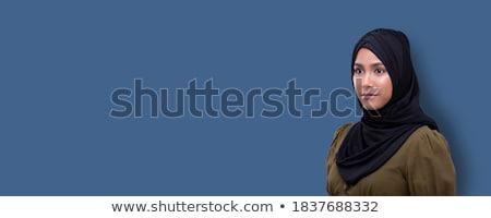 portre · orta · doğu · kadın · siyah · başörtüsü - stok fotoğraf © monkey_business