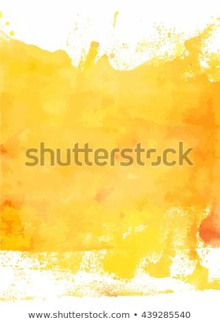 黄色 水彩画 ベクトル テクスチャ 孤立した 白 ストックフォト © Artspace
