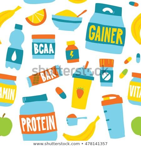 Spor beslenme konteyner protein hapları Stok fotoğraf © popaukropa