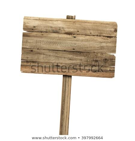 Legno segni vecchio legno cartellone isolato Foto d'archivio © scenery1