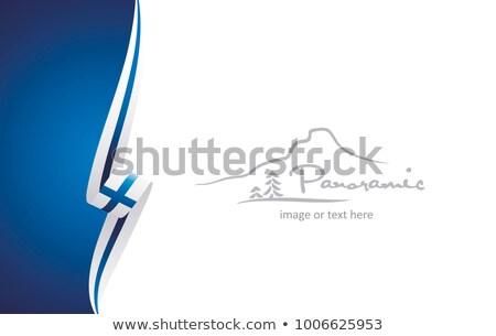 Finlandia banderą odizolowany wstążka banner symbol Zdjęcia stock © popaukropa