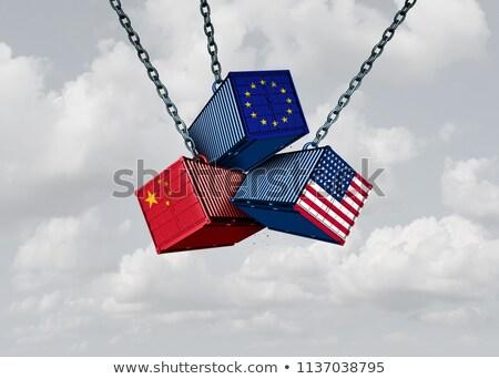 ヨーロッパの アメリカン 貿易 戦争 ヨーロッパ 米国 ストックフォト © Lightsource