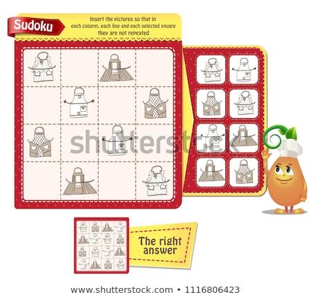 Logika felnőttek konyha játék gyerekek képek Stock fotó © Olena