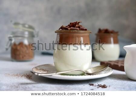 イタリア語 デザート コーヒー 務め 青 プレート ストックフォト © Melnyk