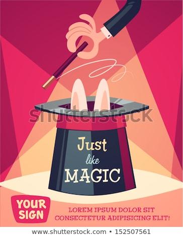 Vector Magic Concept with Hat Stock photo © dashadima