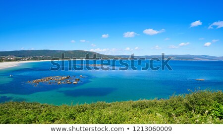 Aerial view of Finisterre langosteira beach in Galicia Stock photo © lunamarina
