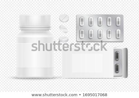 Gyógyszer tabletták hólyag csomag főcím kapszulák Stock fotó © robuart
