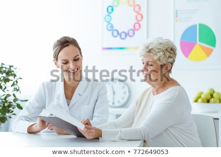 patient senior women_complex Stock photo © toyotoyo
