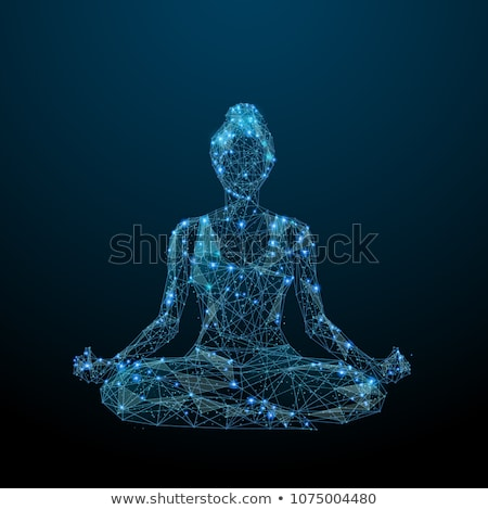 Business Woman Sitting in Lotus Pose Vector Image Stock photo © robuart