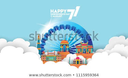 independence day india poster vector illustration stock photo © robuart