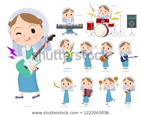 Nun women_pop music Stock photo © toyotoyo