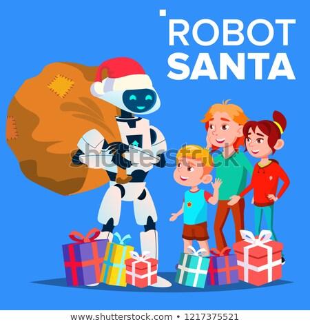 サンタクロース · クリスマス · 贈り物 · 子供 · 警察 - ストックフォト © pikepicture