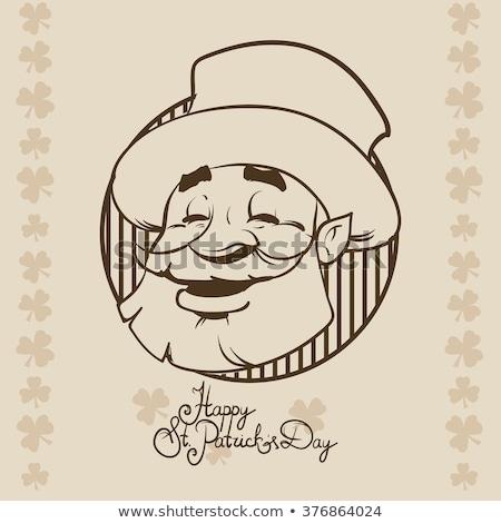 Desenho animado bêbado irlandês homem olhando Foto stock © cthoman