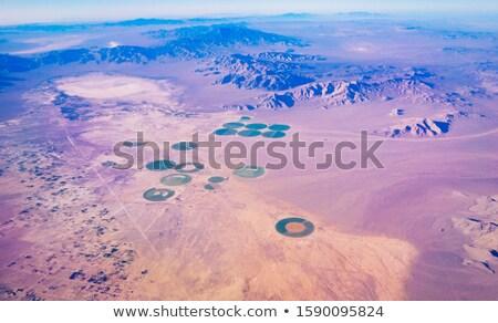 Stock fotó: Repülőgép · repülés · sivatag · illusztráció · égbolt · absztrakt
