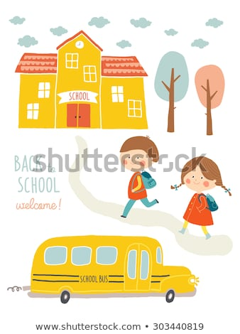 Elementary or Primary School Poster with Pupils Stock photo © robuart