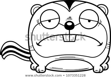 Karikatür üzücü çizgili sincap örnek bebek hayvan Stok fotoğraf © cthoman