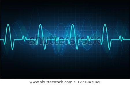 Corazón ritmo pantalla pulsante gráfico Foto stock © alexaldo
