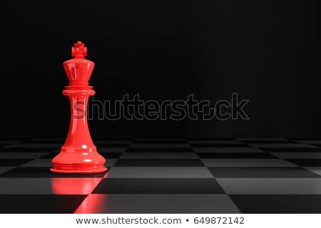 rainha · vermelho · vidro · isolado - foto stock © andreypopov