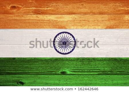 India flag on wooden board Stock photo © colematt