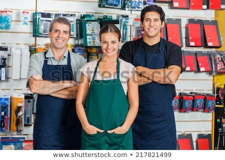 Portre yetişkin kadın müşteri donanım depolamak Stok fotoğraf © Lopolo