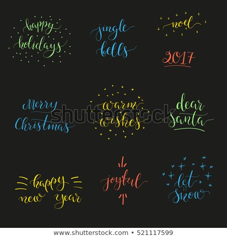 Happy New Year, Jingle Bells and Warm Wishes, Joy Stock photo © robuart