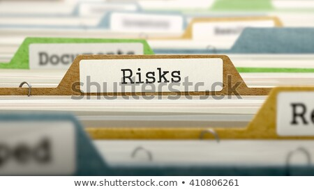 File Card with Risk Assessment. 3d Rendering. Stock photo © tashatuvango