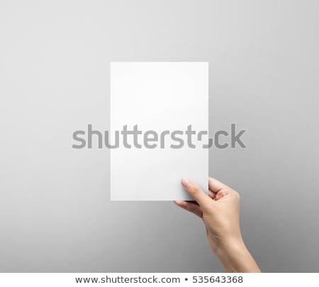 Vrouwelijke hand boek witte geïsoleerd Stockfoto © OleksandrO
