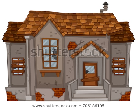 Old house with broken roof and windows Stock photo © colematt