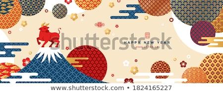Geometri simgeler model şablon afişler Stok fotoğraf © netkov1