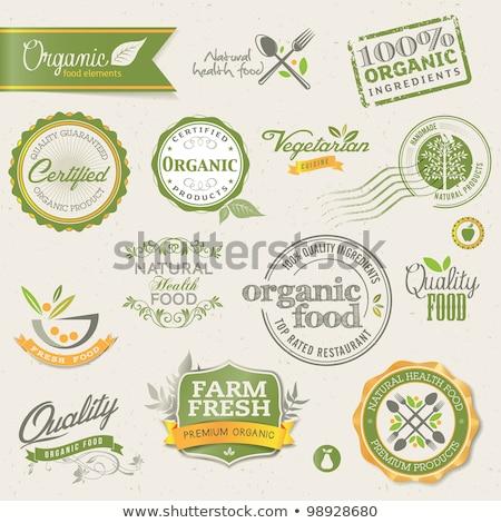 Vintage alimentos orgánicos eps 10 árbol alimentos Foto stock © netkov1