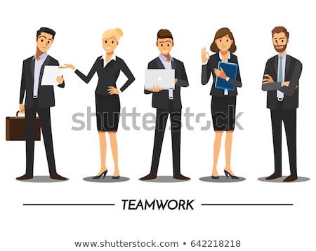 ビジネスの方々  ブレーンストーミング 立って チームワーク 通信 ストックフォト © RAStudio