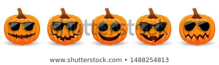 Halloween pumpkin DJ character. Musical holiday party Stock photo © rogistok