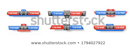 A sport scoreboard template Stock photo © colematt