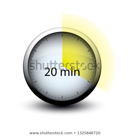 Kronometre zaman 20 web simgesi yalıtılmış Stok fotoğraf © mizar_21984