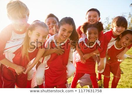 kinderen · sportteam · groep · voetbal · team · spelers - stockfoto © matimix