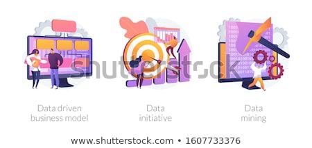 Dados iniciativa negócio discutir idéias Foto stock © RAStudio