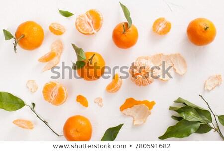 hámozott · mandarin · fehér · háttér · narancs · trópusi - stock fotó © denismart