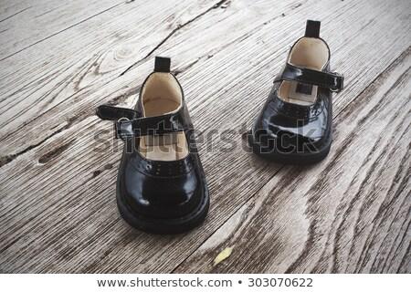 Klasszikus ezüst bőr cipők eredeti este Stock fotó © Eireann