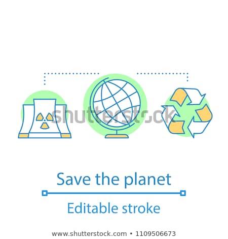 Nucleaire station icon kleur ontwerp technologie Stockfoto © angelp