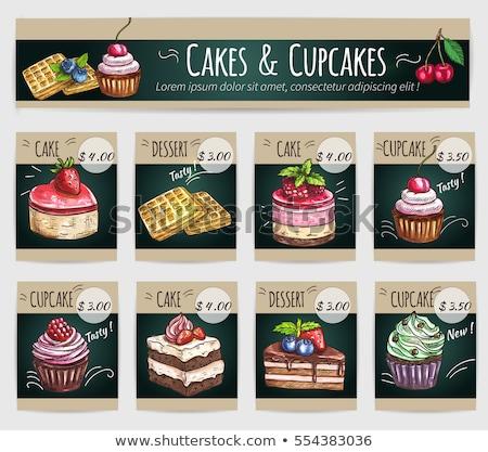 Eclair crispy creamy cake with white chocolate Stock photo © boggy