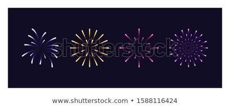 Fireworks Celebration of Holiday, Night Sky Light Stock photo © robuart