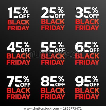 черная пятница продажи процент рекламный наклейку Сток-фото © robuart