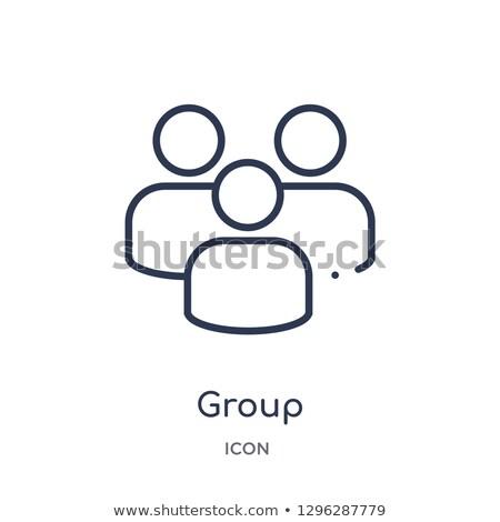 リニア グループ アイコン 顧客サービス コレクション ストックフォト © kyryloff