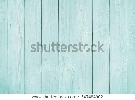 Eski ahşap dikey boyalı mavi ağaç Stok fotoğraf © bogumil