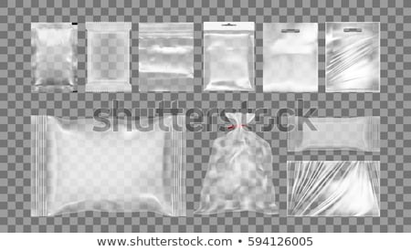 Stock photo: vector set of plastic bag