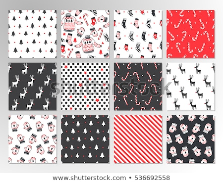 Collection of Santa Red Socks with Pattern Vector Stock photo © robuart