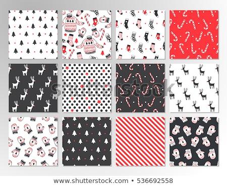 Colección rojo calcetines patrón vector Foto stock © robuart