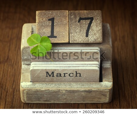 A calendar showing the 17th of March Stock photo © colematt